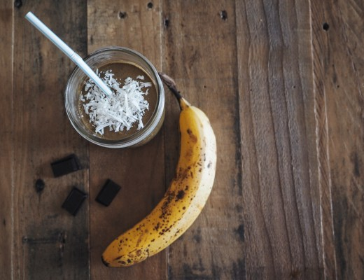 chocolate banana smoothie healthy breakfast love you more too north dallas blogger plano lifestyle blogger foodie fitness almond milk frozen bananas smoothie