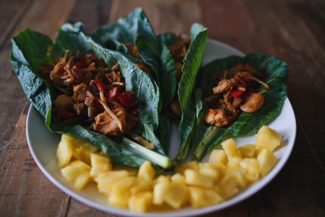 chicken stir fry wraps January Trader Joe's Favorites Dallas Food Blog Blogger Love You More Too