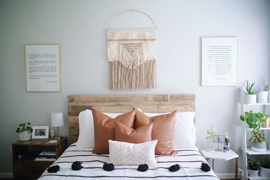 Boho House Tour Plants windows bedroom inspo