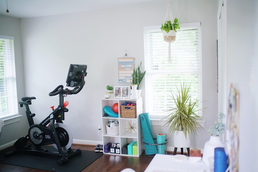 Boho House Tour office fitness inspo