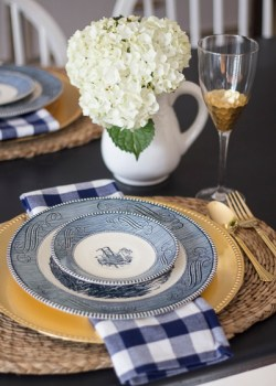 A Blue and White Tablescape