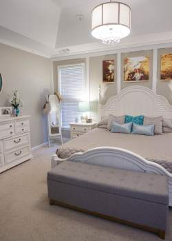 Beachy Glam Bedroom Makeover