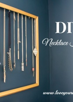 DIY Necklace Holder at Orgjunkie