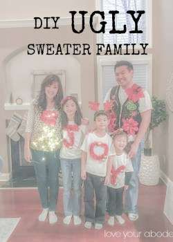 DIY Ugly Sweater Family