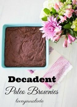 Decadent Paleo Brownies