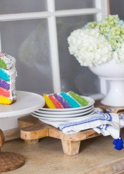 Rainbow Cake and Back to School