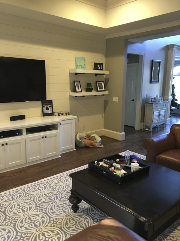 Here Are Some Before And After Photos Of Their Modern Farmhouse Living Room