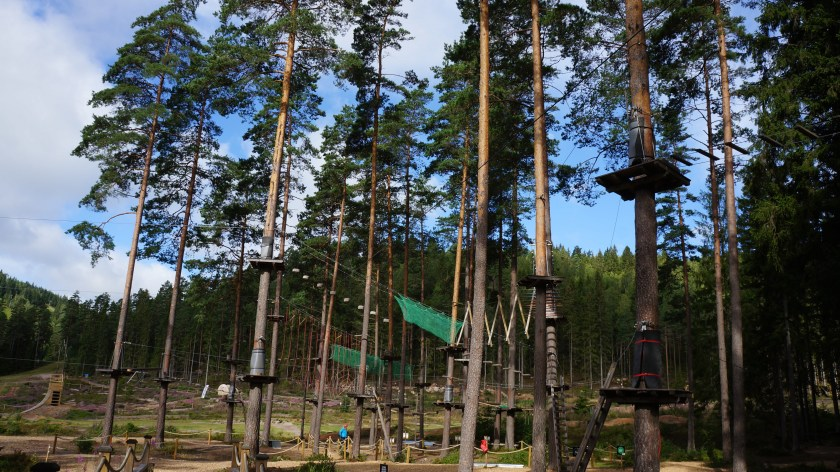 Tree Top Adventure at Isaberg Mountain Resort in Hestra, Sweden