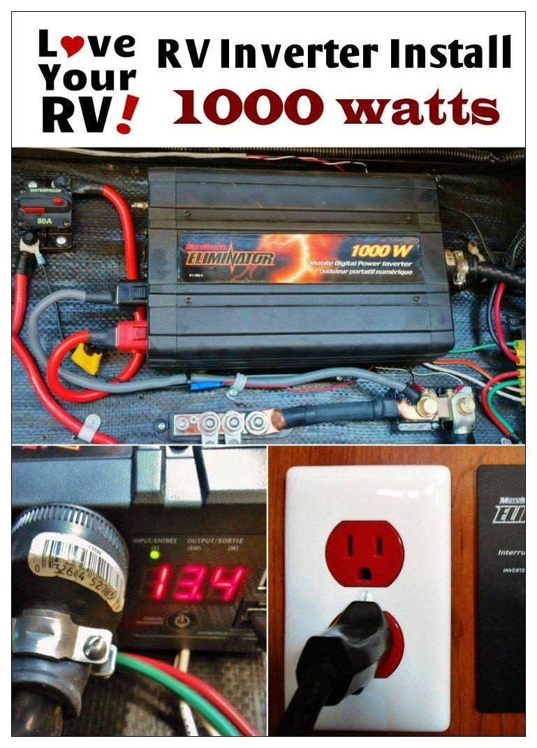 medium resolution of simple way to install a 1000 watt inverter into your rv rv inverter installation explained