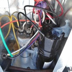 Hard Start Capacitor Wiring Diagram Tekonsha Breakaway Installing Into My Rv Air Conditioner Run Location Cap Installed