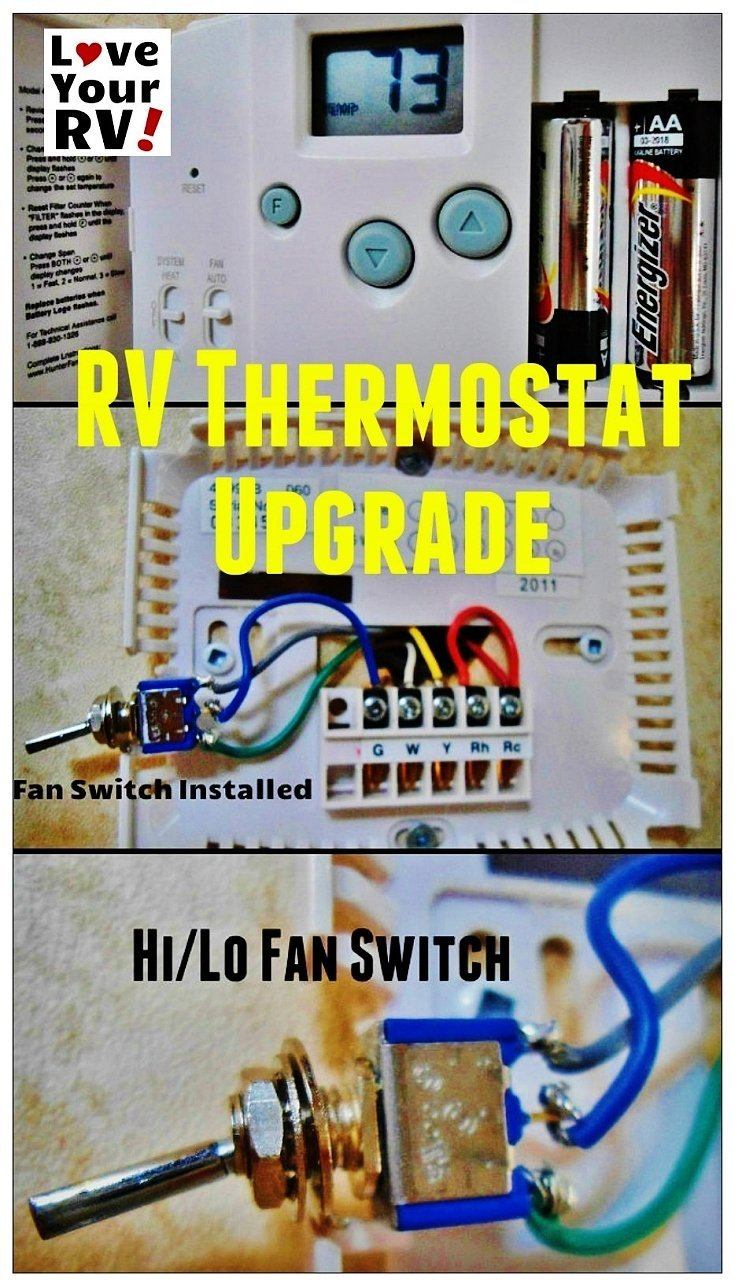 hight resolution of hunter 42999b digital rv thermostat upgrade love your rv blog https