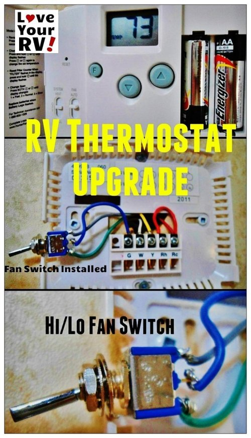small resolution of hunter 42999b digital rv thermostat upgrade love your rv blog https
