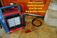 Mr. Heater Big Buddy Hooked To My RVs LP Gas Line