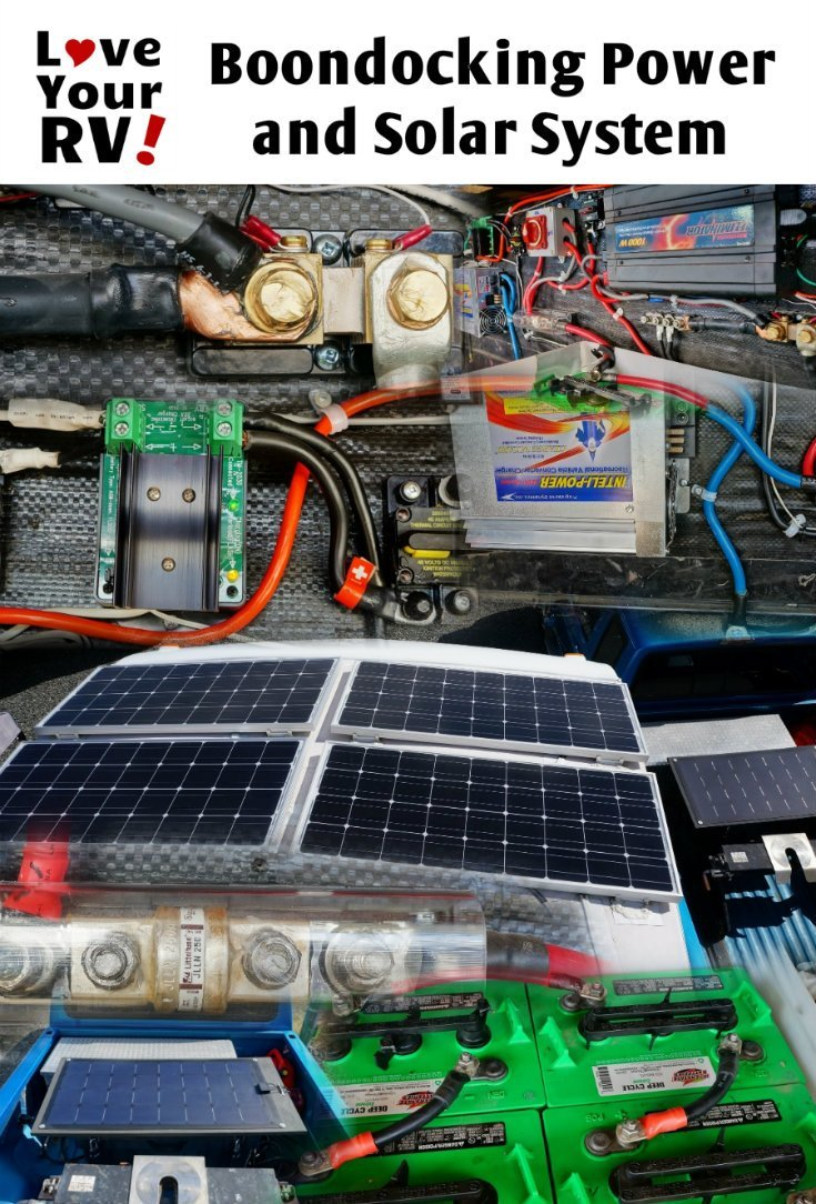 hight resolution of details of our 500 watts 464 ah diy boondocking power and solar system by the love