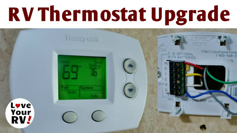 24 Volt Ac Home Wiring Rv Thermostat Upgrade Honeywell Focuspro 5000