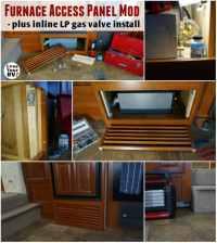 Easy Access RV Furnace Panel Modification Plus Gas Valve