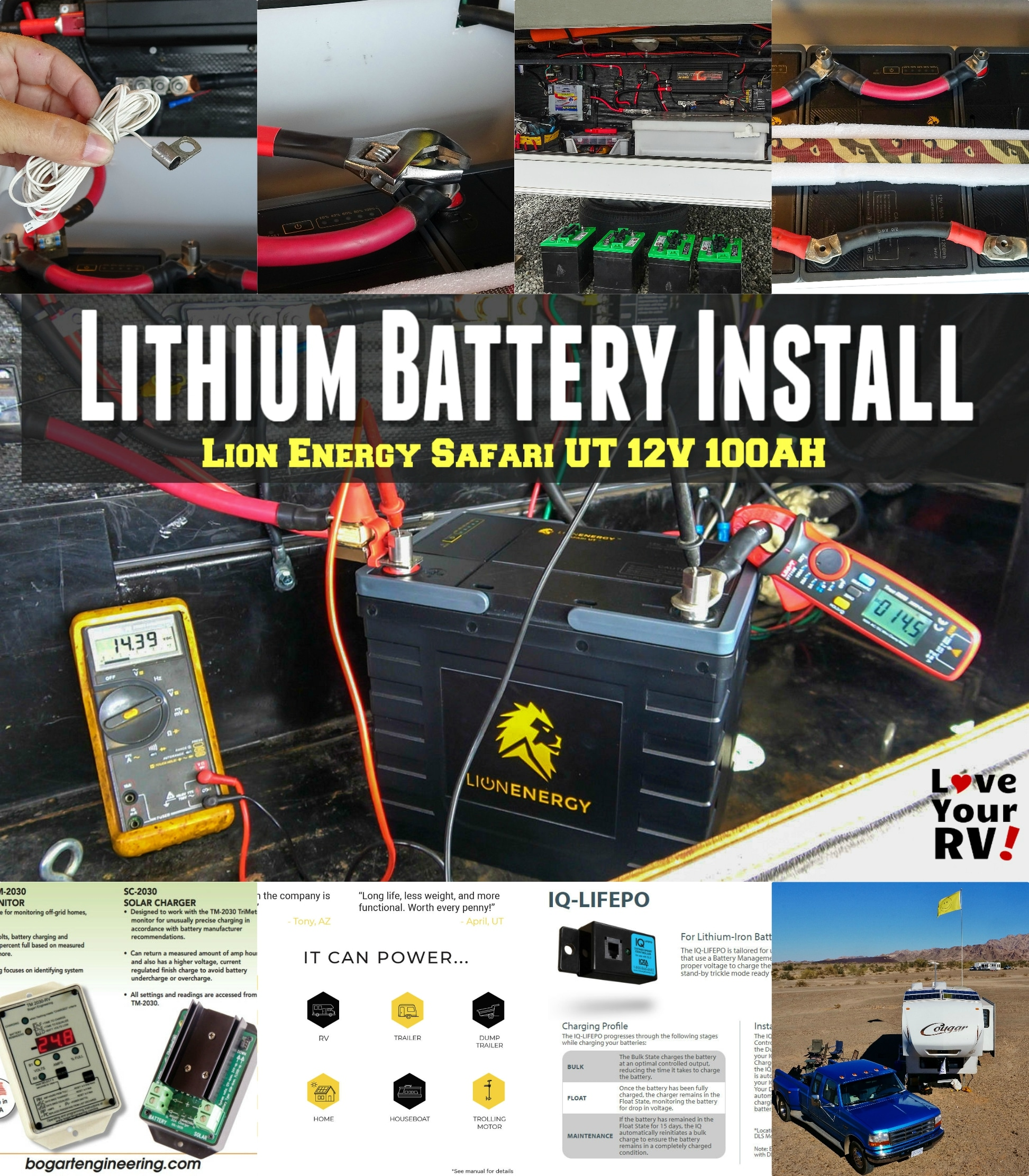 Upgrading Lead Acid Rv Batteries To Lithium  U2013 Lion Energy