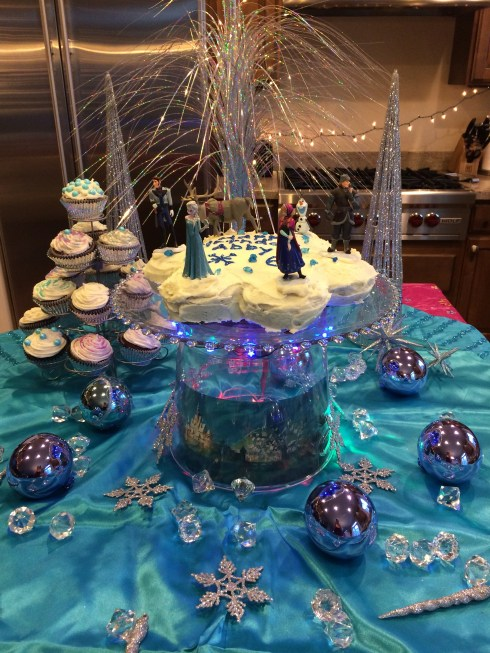 Frozen Party Cake Display