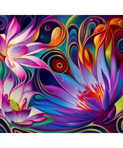 Colorful Abstract Flowers Diamond Painting Set Art Painting Sets