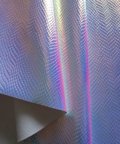 PU Leather Holographic Fabric