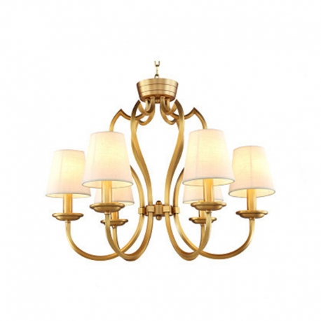 New Classical Brass Vintage Chandelier With Lampshade