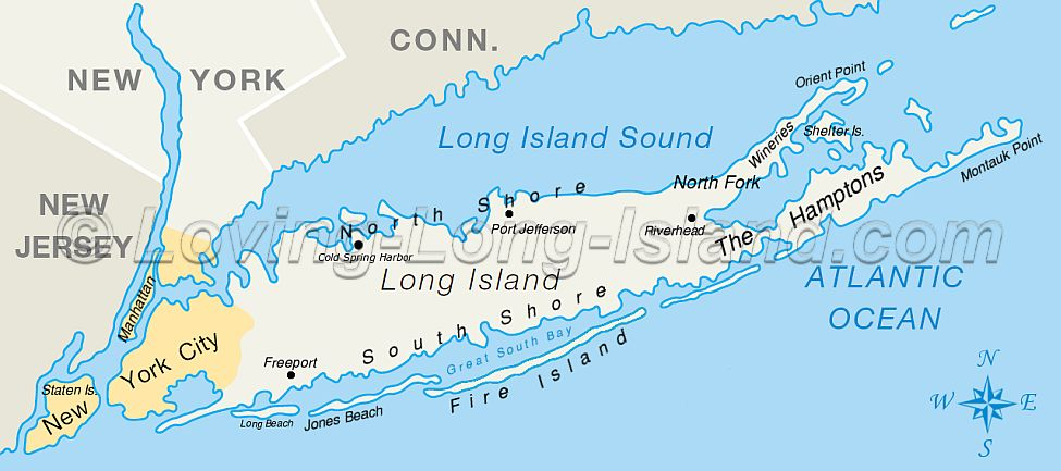 East And West Egg Long Island Map