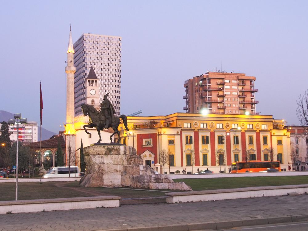 tirana albania skanderberg tirane shqiperia shqip
