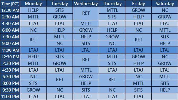 Schedule Of Programming