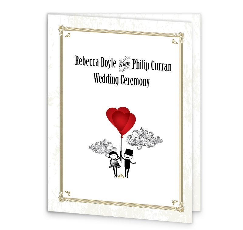 LAmour Wedding Mass Booklet Cover Loving Invitations