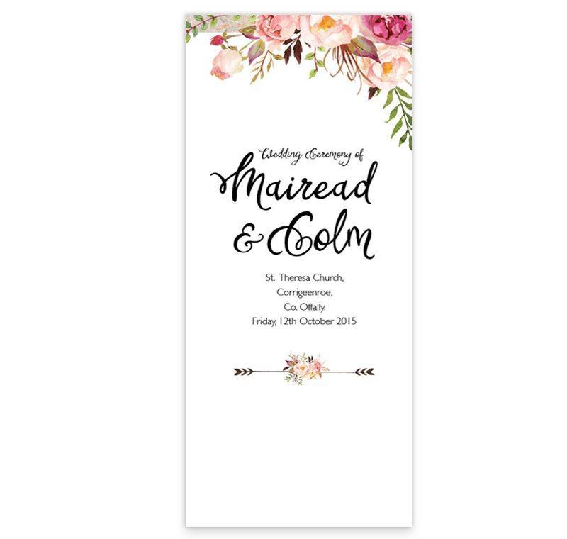 Marriage Ceremony Program