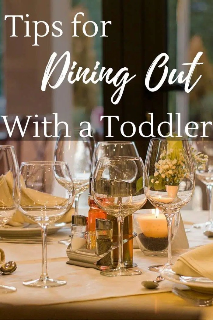 Afraid to take your toddler to a restaurant? Here are tips for dining out with a toddler.