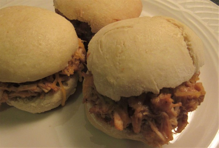 Homemade BBQ Chicken Sliders