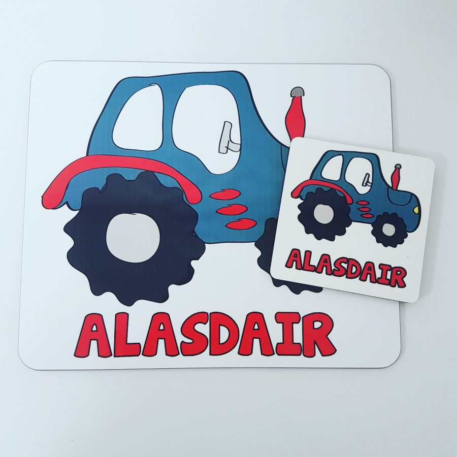 Tractor placemat set