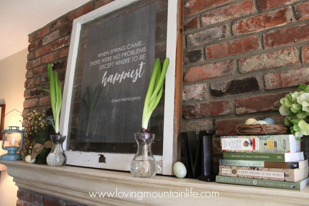Spring Mantel from Loving Mountain Life