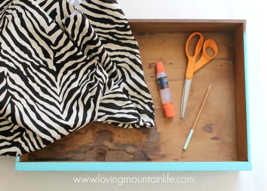 Quick & Easy DIY Fabric Drawer Liner Tutorial from Loving Mountain Life
