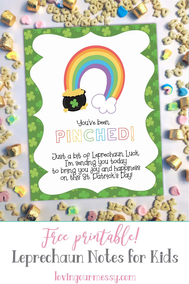 image relating to St Patrick's Day Cards Free Printable named Leprechaun Notes for Little ones - St. Patricks Working day Cost-free Printable