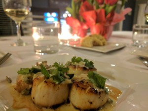 sea scallops bourbon jalapeno cream sauce