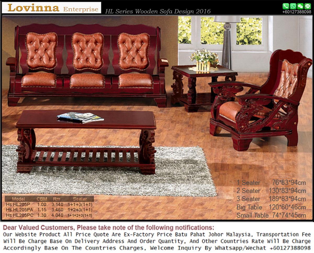 sofa in malaysia leather canada wooden furniture hardwood