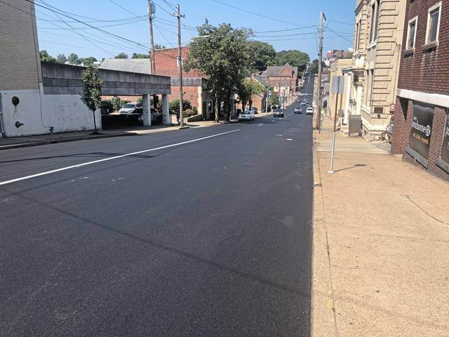 The freshly-paved West Otterman Street in Greensburg.