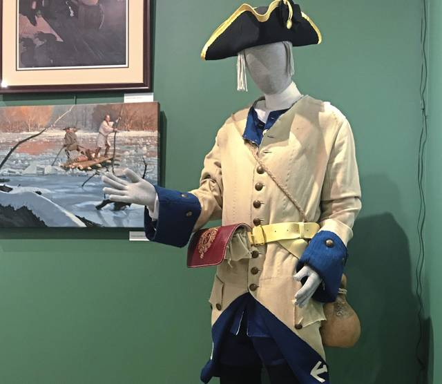 A mannequin at Braddock's Battlefield History Center in North Braddock sports a uniform typical of the French Marines who defeated General Edward Braddock's British troops during the 1755 Battle of the Monongahela.
