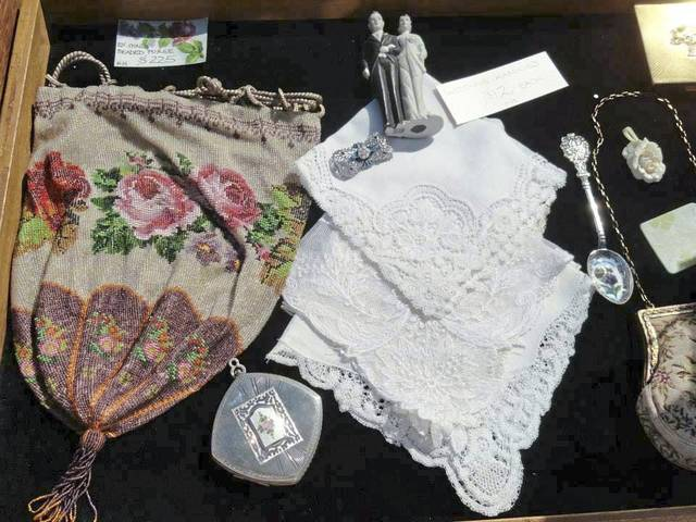 A collection of antique items at Historic Hanna's Town.