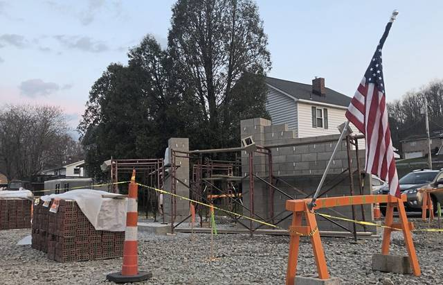 The Export war memorial will be relocated to this spot just off the Westmoreland Heritage Trail, where construction is already under way on Tuesday, April 6, 2021.