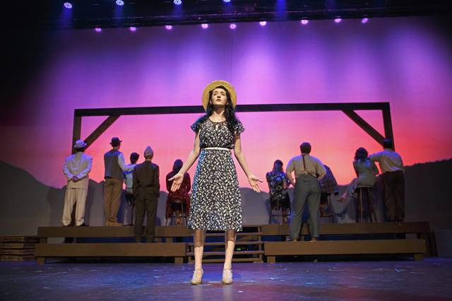 """Senior Sofia Herr takes on the lead role of Alice Murphy in the Greater Latrobe Senior High spring 2021 musical, """"Bright Star."""""""