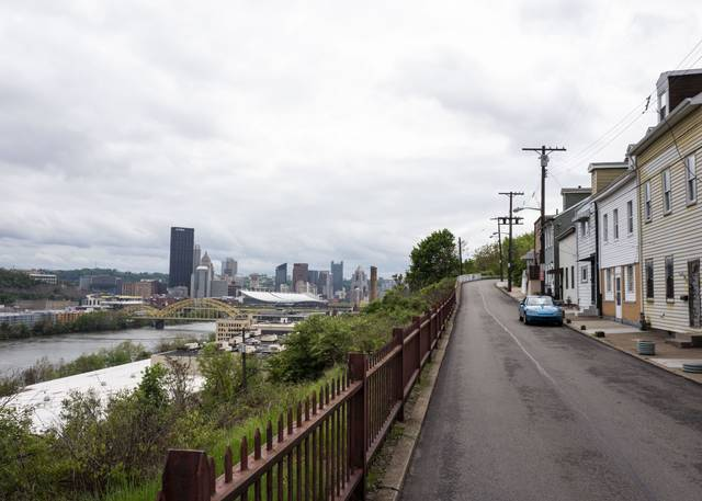 Downtown Pittsburgh seen from Troy Hill on Wednesday.