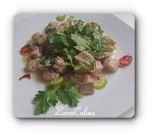 Ceviche aus weißem Fisch