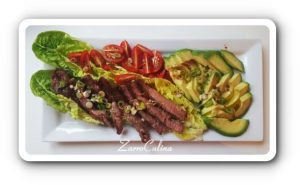 Ribeye Steak Salat mit Avocado - I