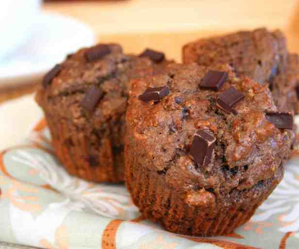 Double Chocolate Power Muffins