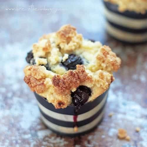 Blueberry Streusel Muffins W/ Lemon Cream Cheese Icing