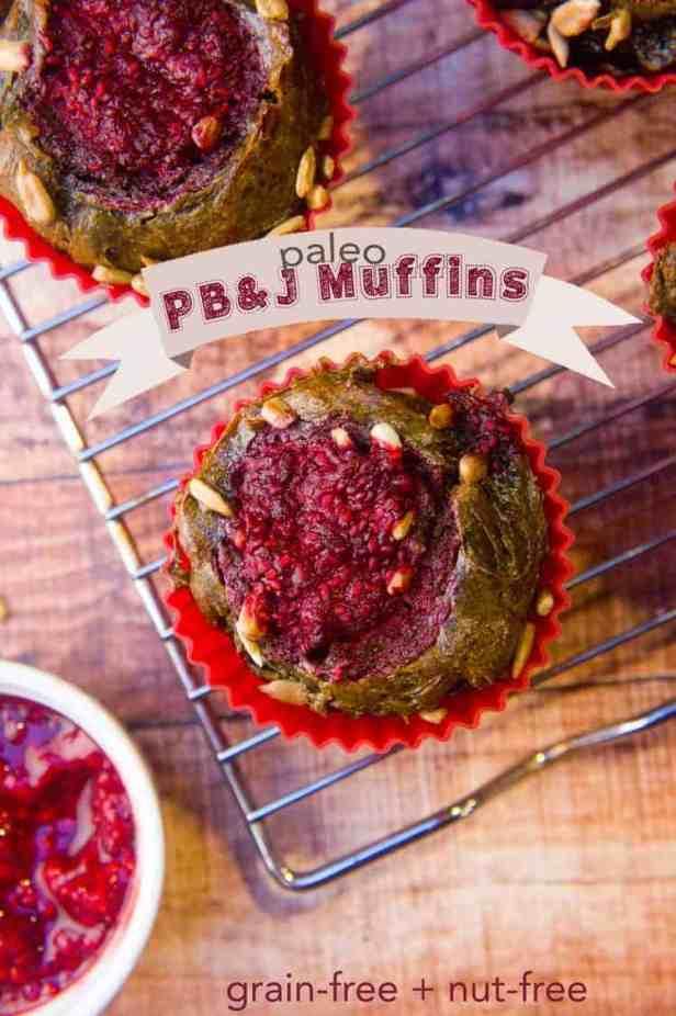 """Paleo """"Pb&J"""" Muffins"""