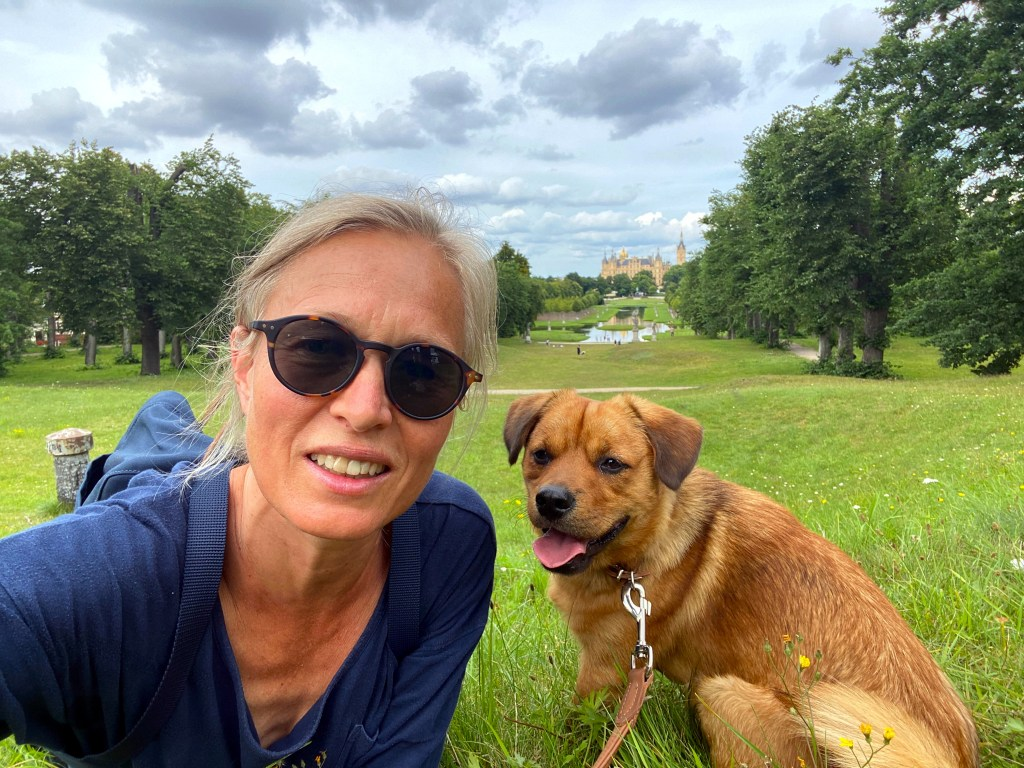 Christiane Kuehl with her dog Otto